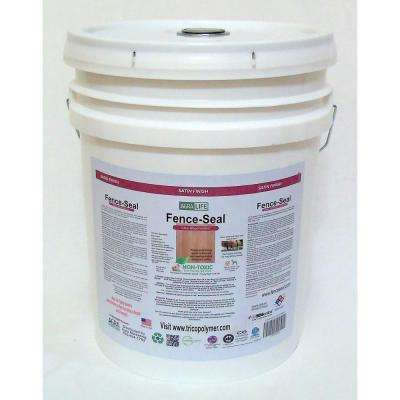 VOC Free Non Toxic 5 gal. Clear Satin Fence-Seal