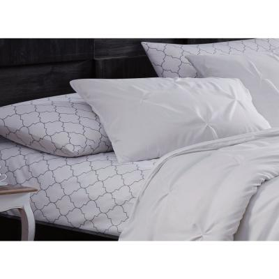 Flynn 7-Piece White Queen Bed in a Bag Set