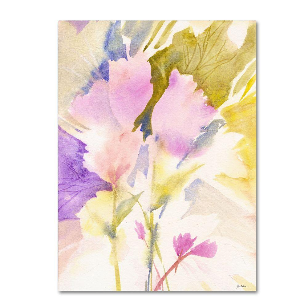 35 in. x 47 in. Lavender Shadows Canvas Art
