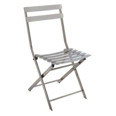Industrial Styled Silver Metal Folding Chair (Pack Of 2)