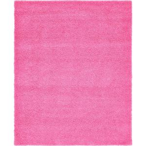 Solid Shag Taffy Pink 8 ft. x 10ft. Area Rug
