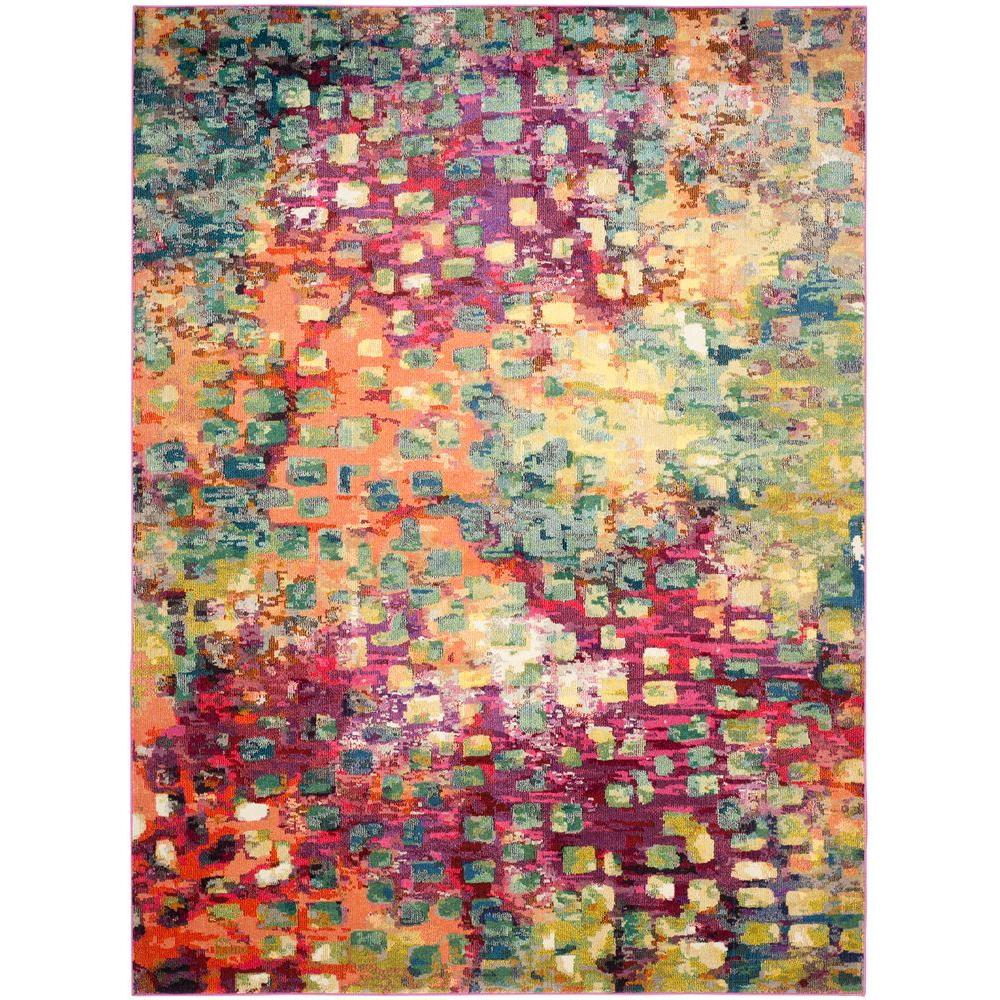 Safavieh Monaco Pink Multi 8 Ft X 11 Area Rug