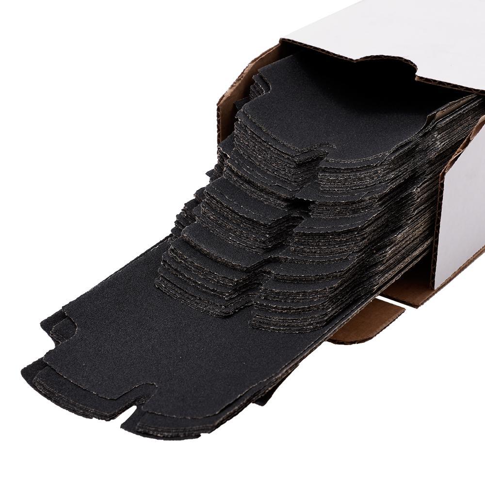 Long Tab 4-3/16 in. x 11-5/16 in. 120-Grit Drywall Sanding Sheets (100-Pack)
