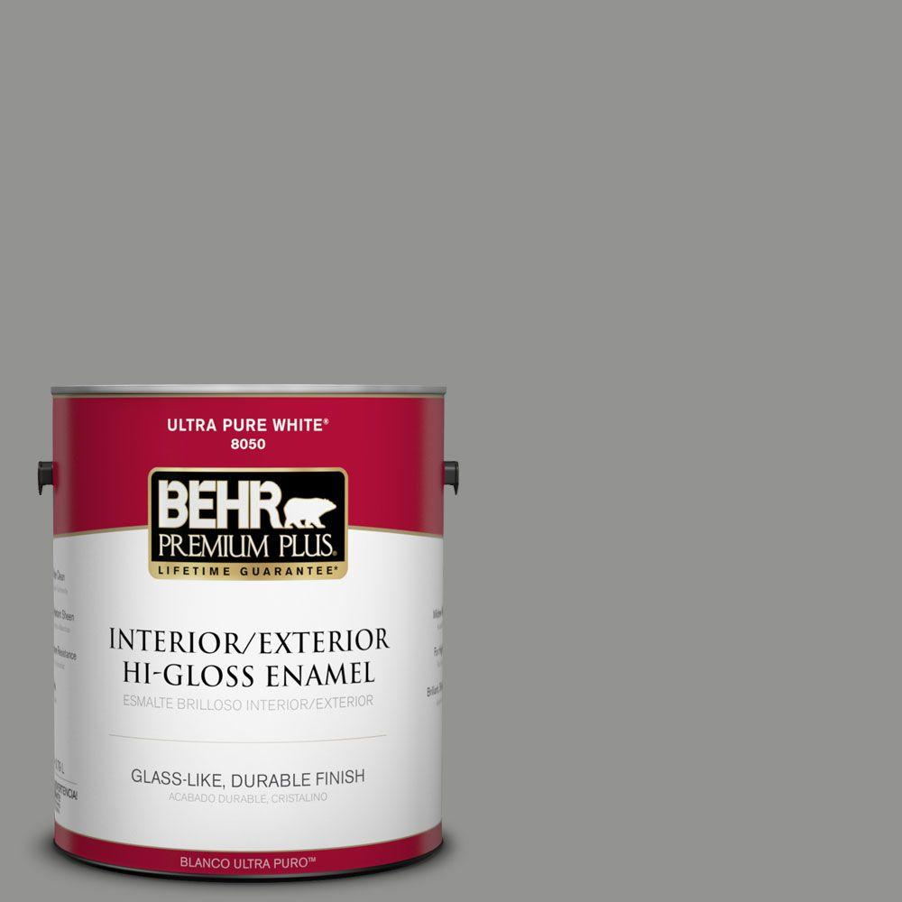 BEHR Premium Plus 1-gal. #780F-5 Anonymous Hi-Gloss Enamel Interior/Exterior Paint