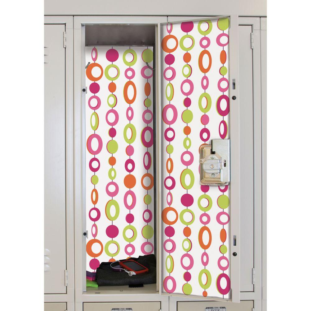 null 8-5/8 in. X 40 in. Beaded Curtain 2 -Piece Peel and Stick Locker Skins Wall Applique
