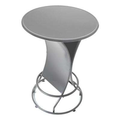 Silver 45 in. Patio Pub Table