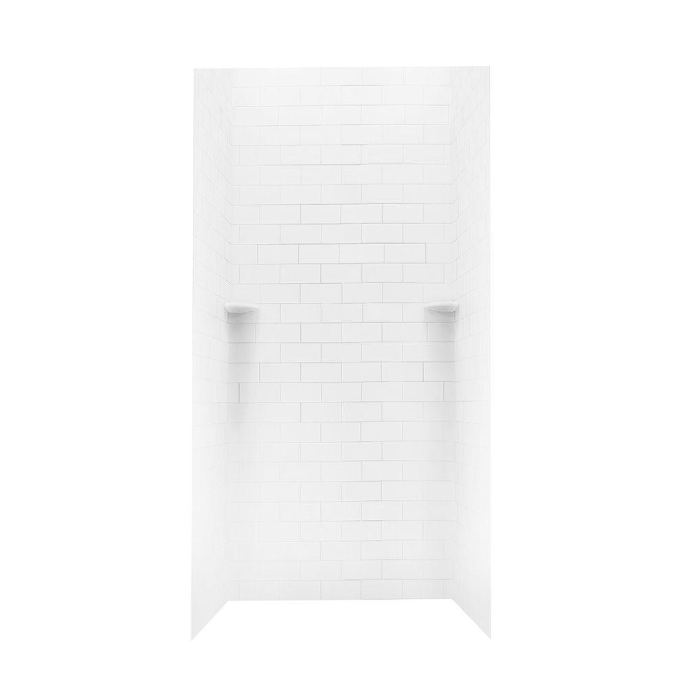 36 in. x 36 in. x 72 in. 3-piece Subway Tile