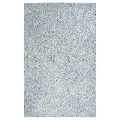 Brindleton Blue/Ivory 8 ft. x 10 ft. Rectangle Area Rug
