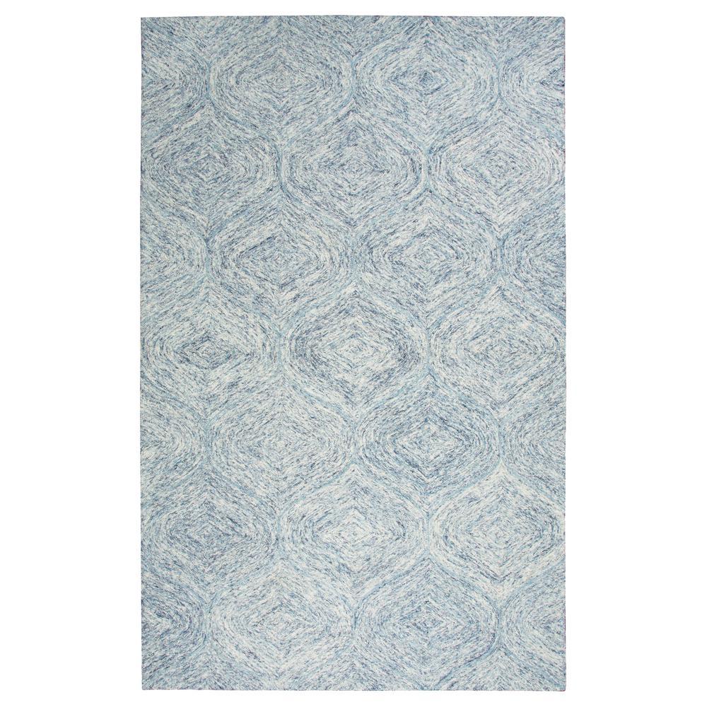 Brindleton Blue/Ivory 9 ft. x 12 ft. Rectangle Area Rug