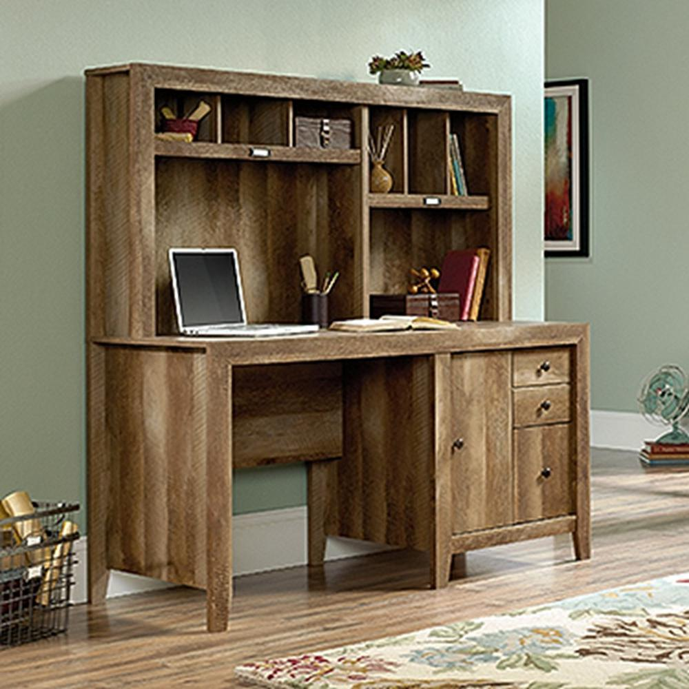 Dakota Pass Craftsman Oak Desk With Hutch