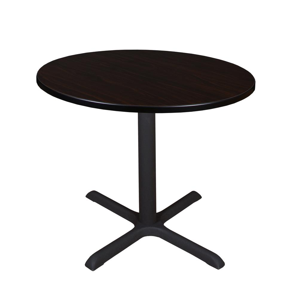 Regency Cain Mocha Walnut Round 36 In Breakroom Table