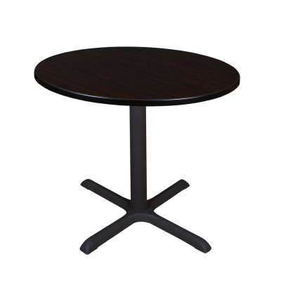 Cain Mocha Walnut Round 36 in. Breakroom Table