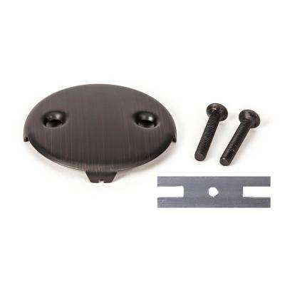 Universal Bathtub Drain 2-Hole Overflow Face Plate with Matching Screw