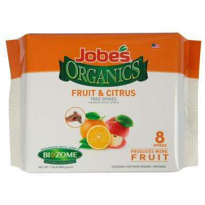 1.76 lb. Organics Fruit and Citrus Fertilizer Spikes with Biozome, OMRI Listed (8-Pack)