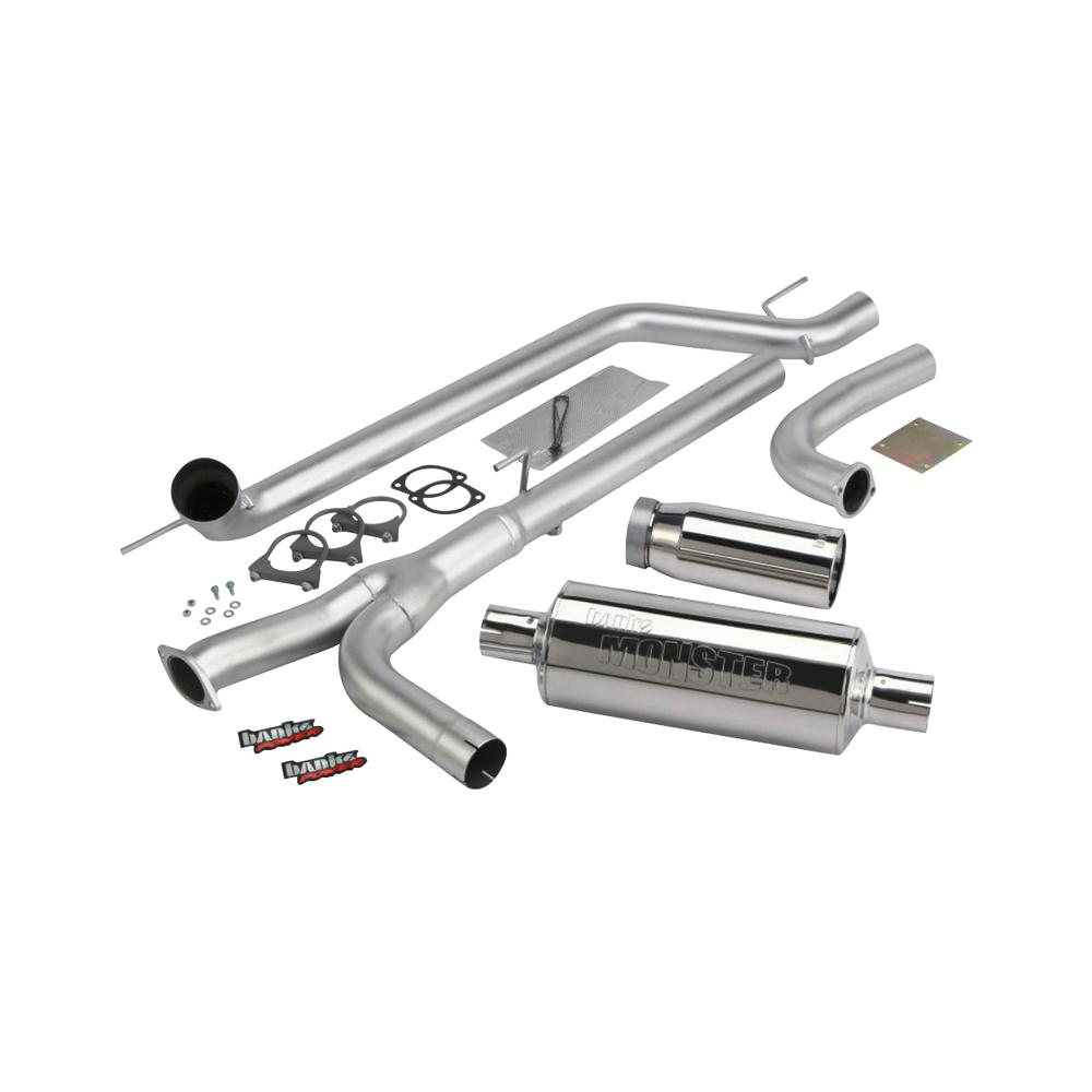 Banks Power 04-14 Nissan 5 6L Titan (All) Monster Exhaust System - SS  Single Exhaust w/ Chrome Tip
