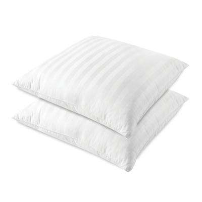 Euro Square Oversized 28 in. x 28 in. Jumbo Sateen Stripe Pillow (Set of 2)
