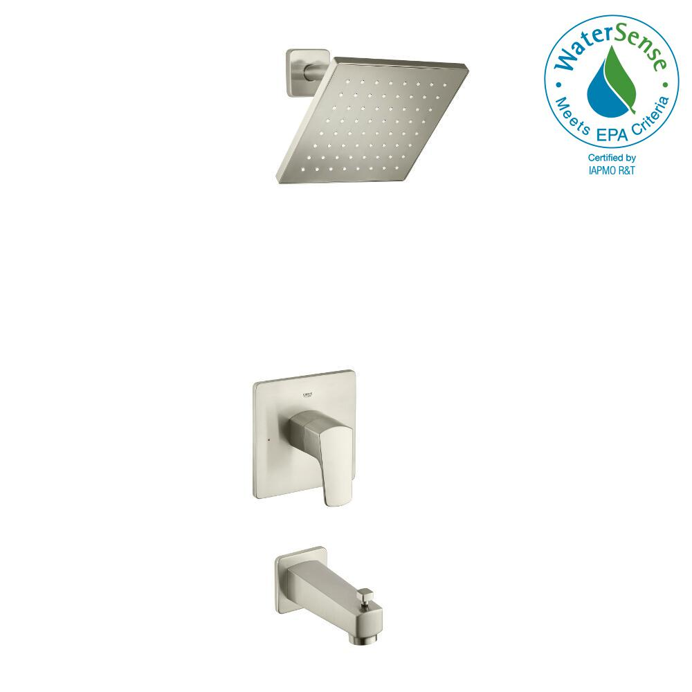 Tallinn Single-Handle 1-Spray Bathtub and Shower Faucet in Brushed Nickel (Valve