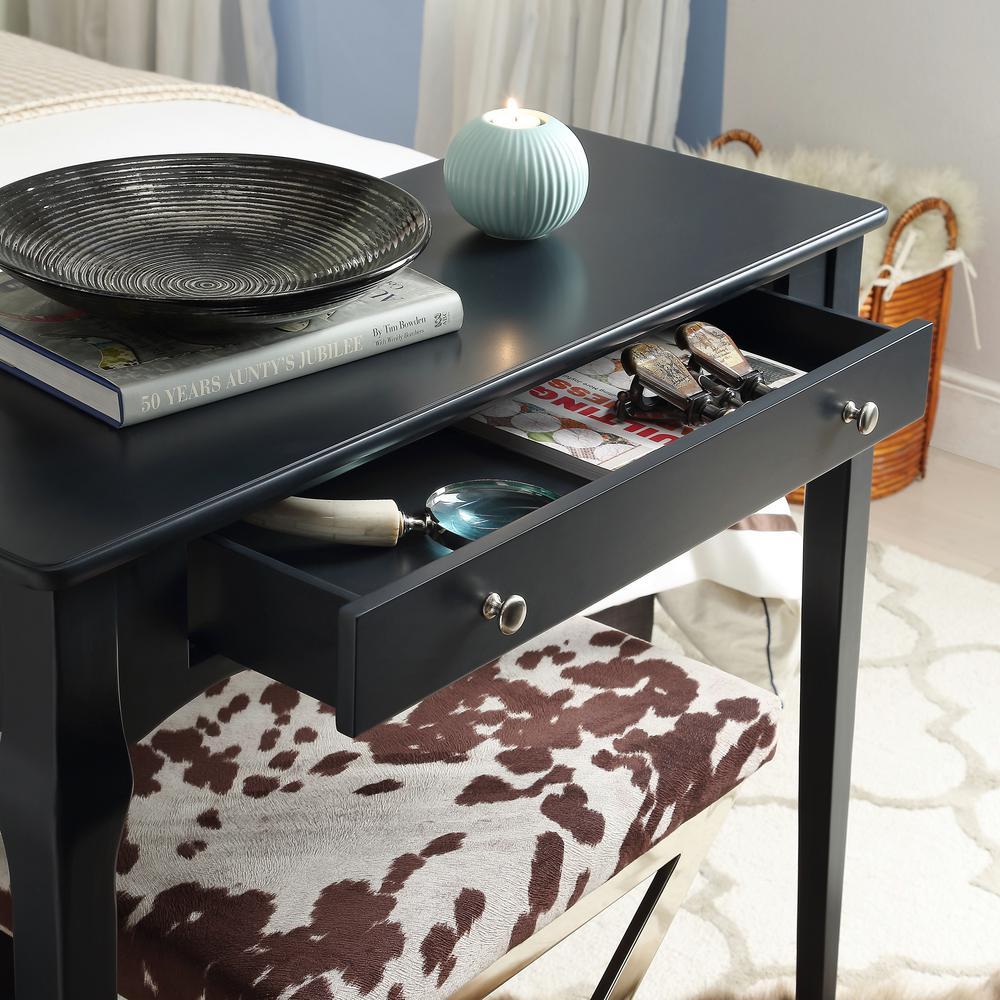 HomeSullivan Vulcan Black Console Table