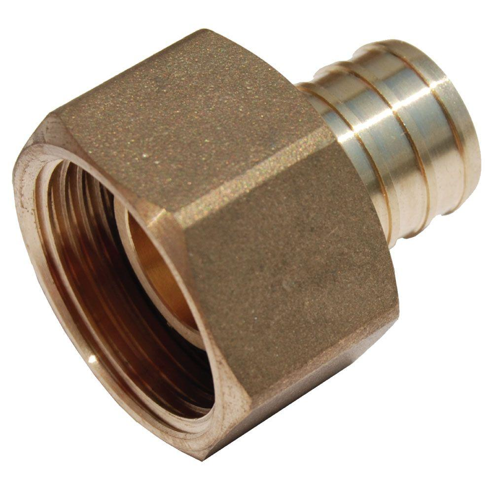 Sharkbite 3 4 In Brass Pex Barb X Female Swivel Adapter