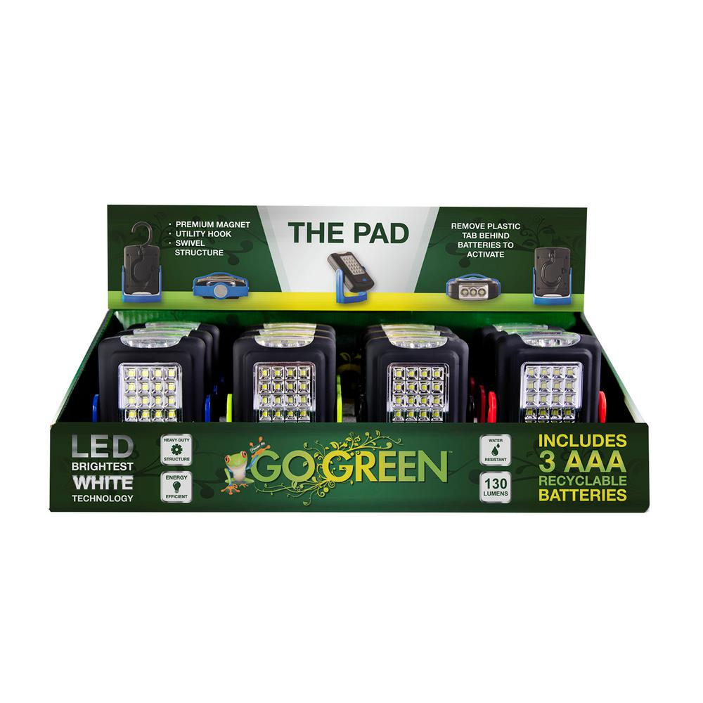 Go Green Power The 23 LED Pad Magnetic Light Display (12-Piece)