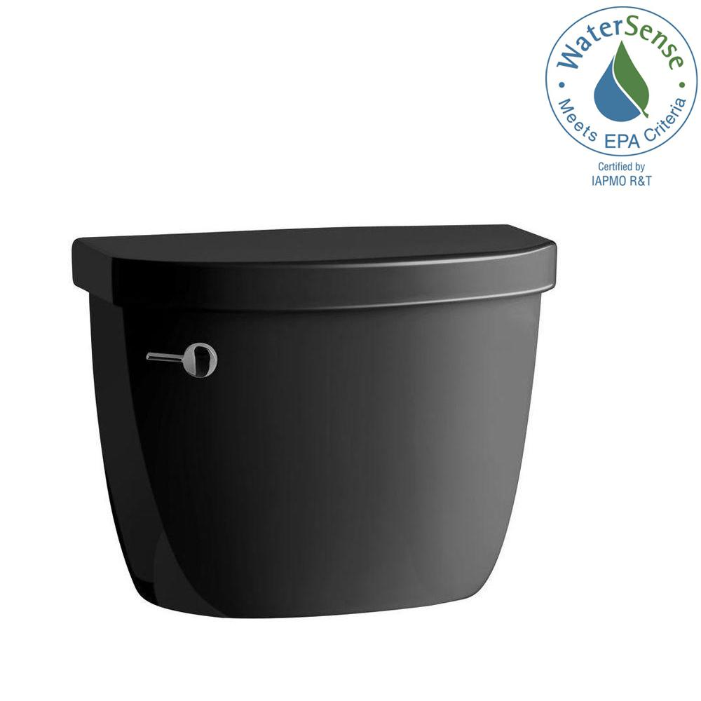 Cimarron 1.28 GPF Single Flush Toilet Tank Only in Black Black