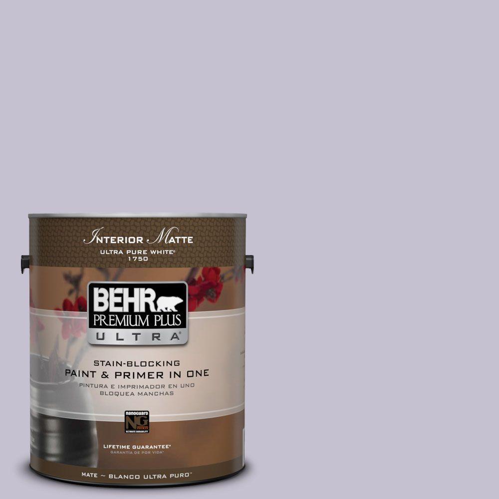 BEHR Premium Plus Ultra 1 gal. #ICC-44 Lavender Bouquet Flat/Matte Interior Paint