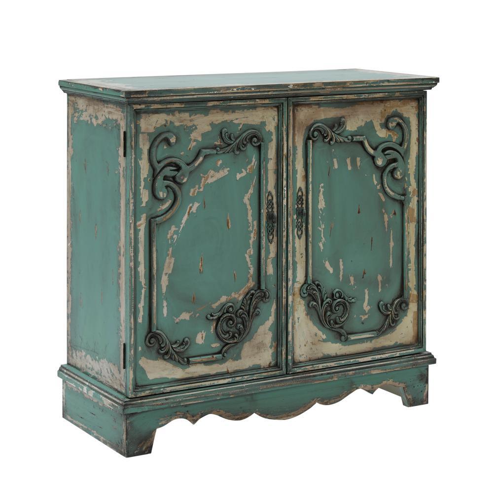 Belle Zesty Green Accent Storage Cabinet