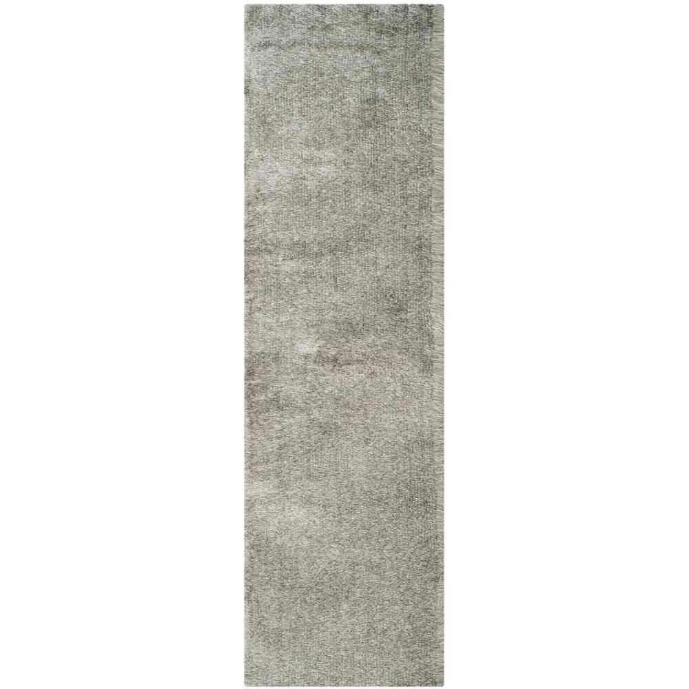 Paris Shag Silver 2 ft. x 10 ft. Runner Rug