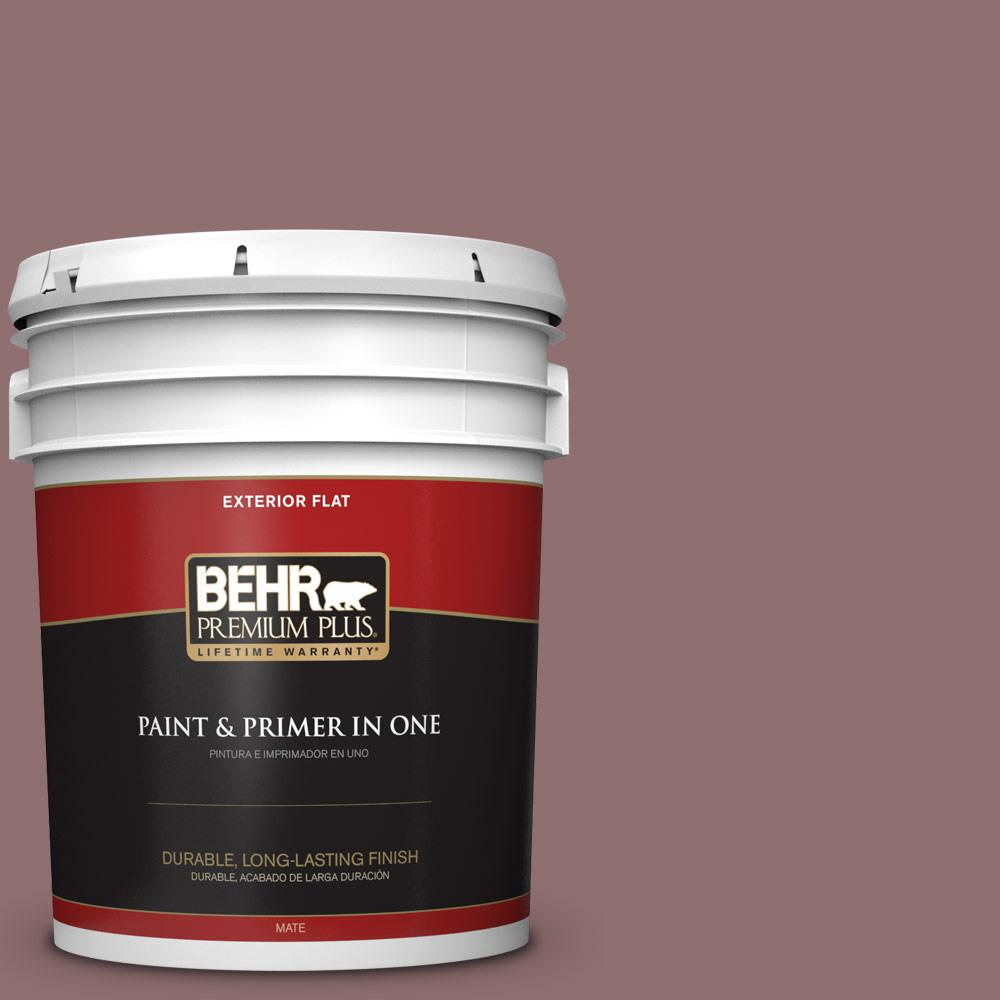 5 gal. #MQ1-47 Touch of Class Flat Exterior Paint and Primer