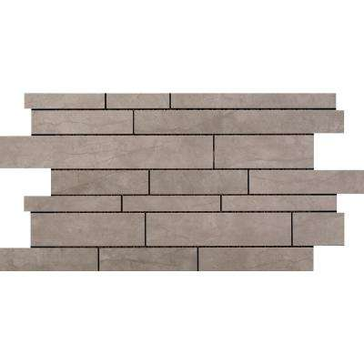 Citadel Gray 11.5 in. x 20.2 in. x 10mm Porcelain Mesh-Mounted Mosaic Tile