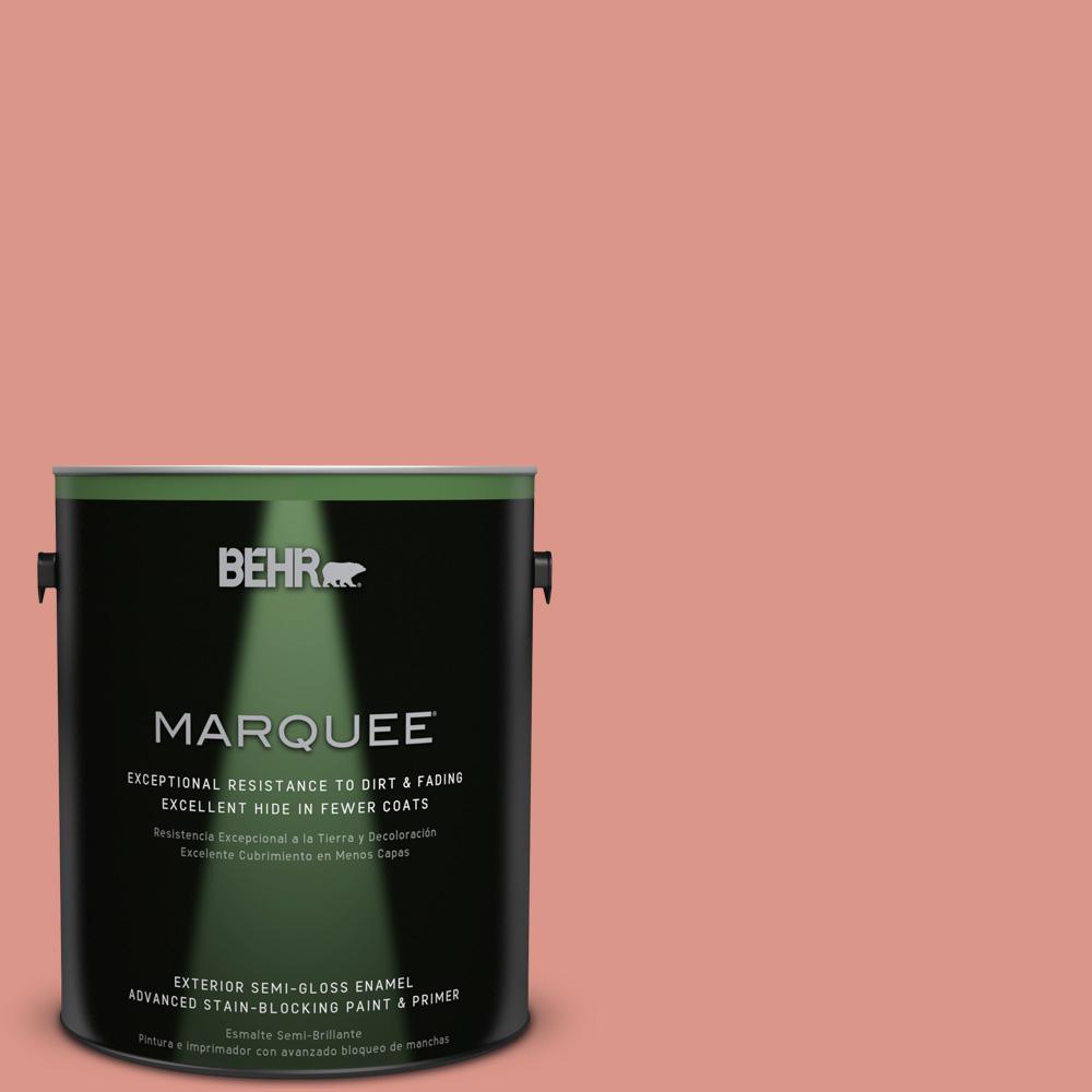 BEHR MARQUEE 1-gal. #180D-4 Coral Serenade Semi-Gloss Enamel Exterior Paint