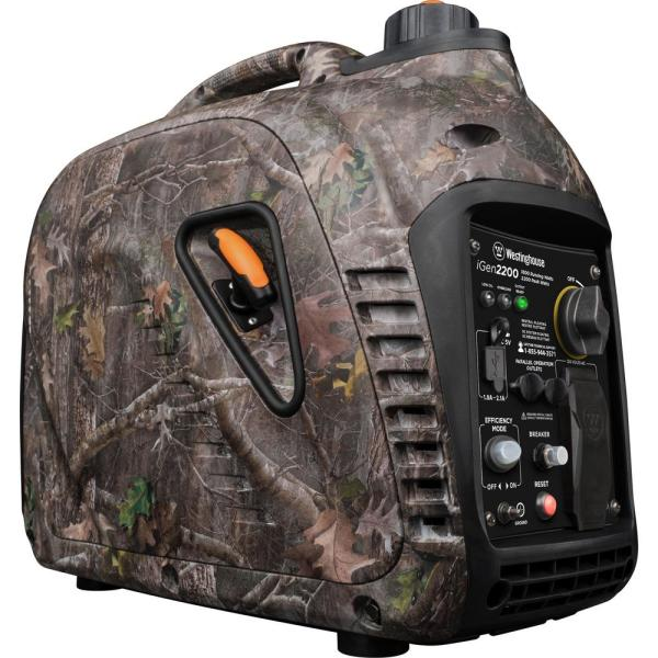 iGen2200 - Camo 2,200/1,800 Watt Gas Powered Inverter Generator with Parallel Capability and Enhanced Fuel Efficiency