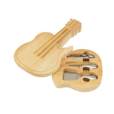 Guitar Cheese Board and Tools Set