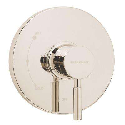 Neo 1-Handle Pressure Balance Valve Trim Kit in Polished Nickel (Valve Not Included)