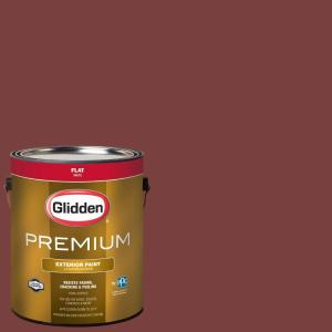 1-gal. #HDGR65 California Claret Flat Latex Exterior Paint
