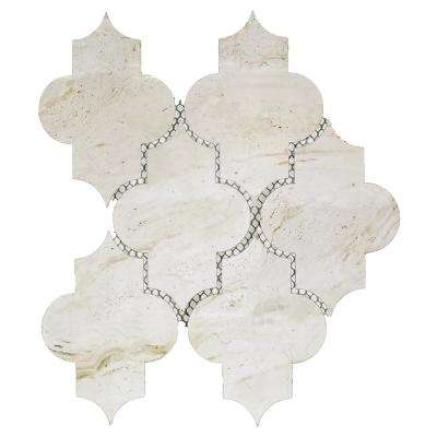 Nature Small Lantern Crema Marfil 10 in. x 12 in. x 6.35 mm Glass Mosaic Tile