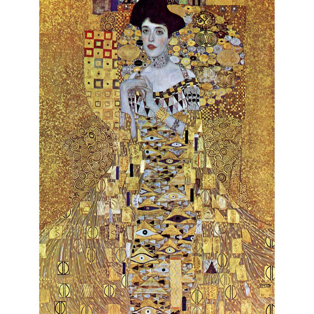 "31.5 in. x 23.5 in. ""The Woman in Gold by Klimt "" Wall Art"