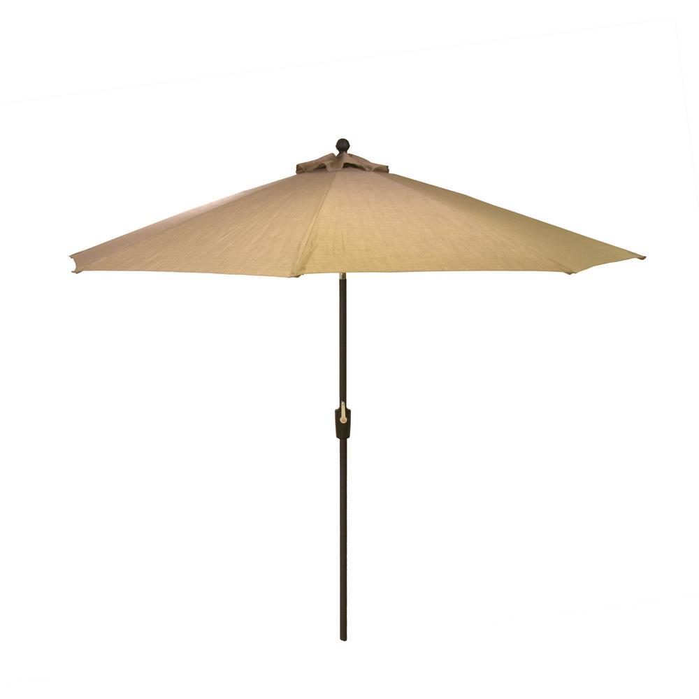 Hampton Bay 10 Ft Aluminum Market Patio Umbrella In
