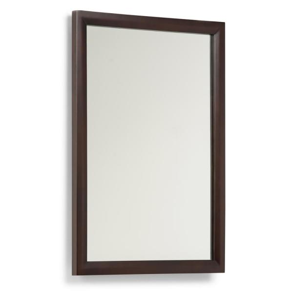 Urban 22 in. W x 30 in. H Framed Rectangular Bathroom Vanity Mirror in Dark espresso stain