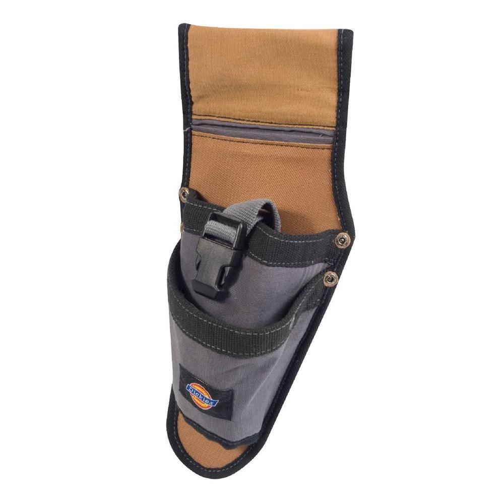 2-Pocket Drill Holster / Tool Belt Pouch, Tan