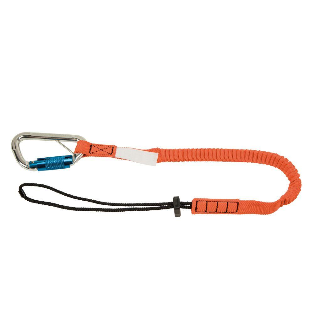 Klein Tools Tool Tether (15 lbs.) with Triple-Locking Carabiner