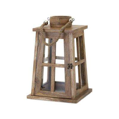 Taft 10.5 in. Natural Wood Lantern