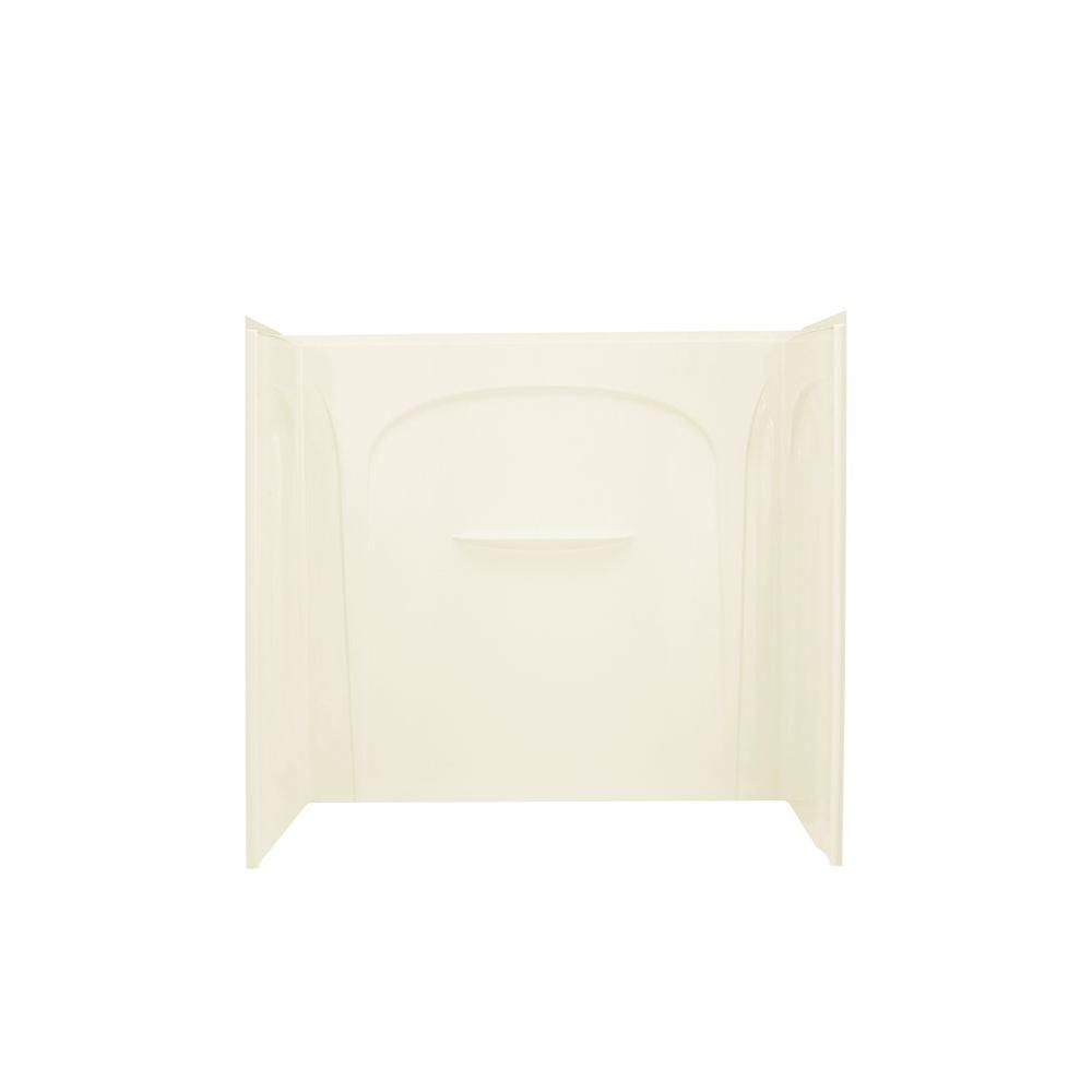 STERLING Acclaim 31-1/2 in. x 60 in. x 54 in. 3-piece Direct-to-Stud Tub and Shower Wall Set in Biscuit