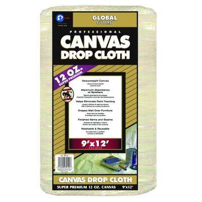 9 ft. x 12 ft. Extra Heavy Weight Canvas Drop Cloth (5-Pack)