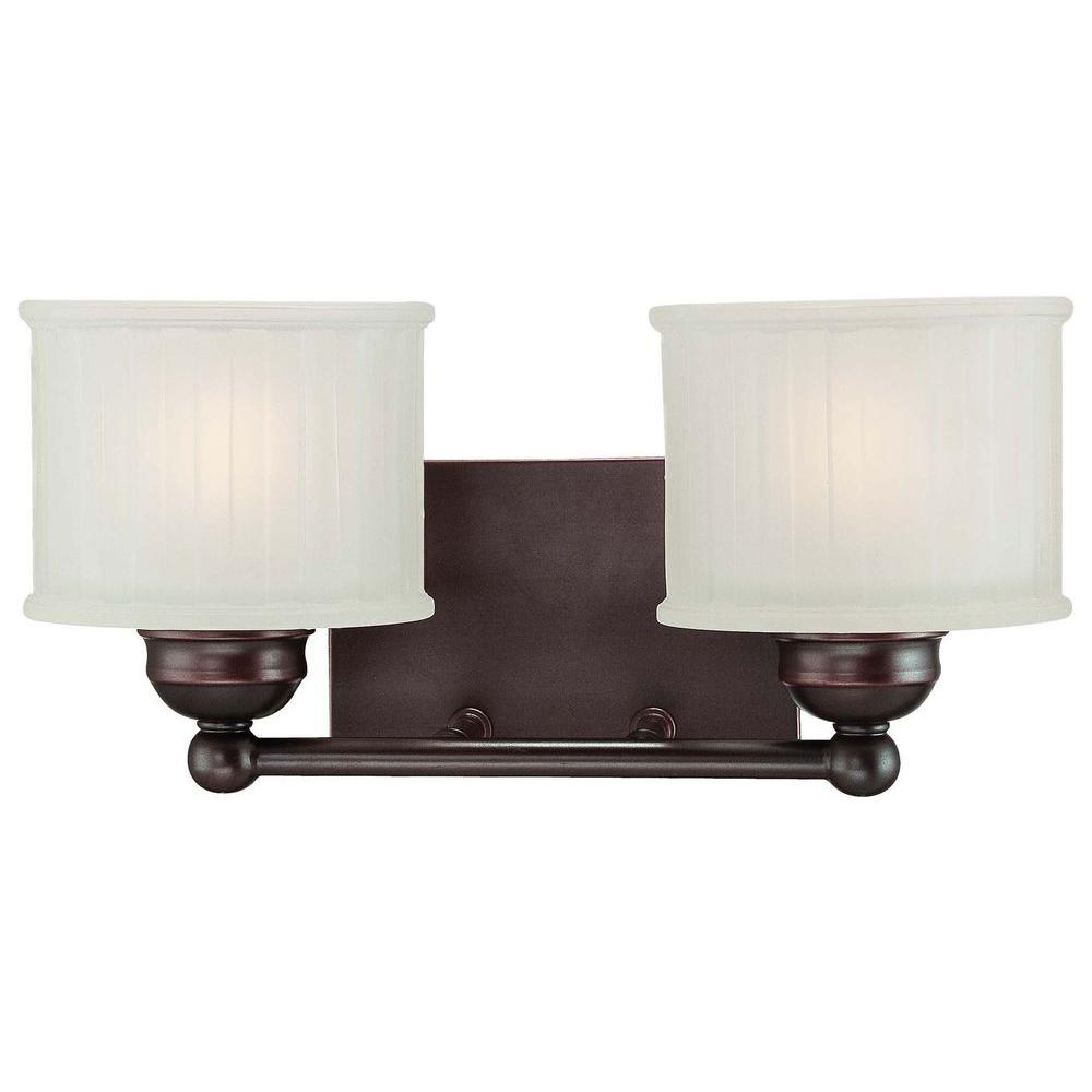 Minka lavery 2 light lathan bronze bath light 6732 167 for 6 light bathroom vanity light