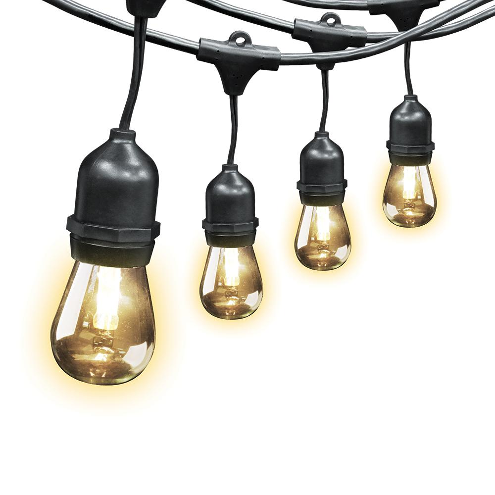 20 ft. 10-Socket String Light Set with Non-Breakable LED Bulbs Included