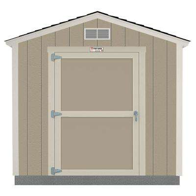 Installed Tahoe 8 ft. x 10 ft. x 8 ft. 6 in. Un-Painted Wood Storage Building Shed with Shingles and Endwall Door