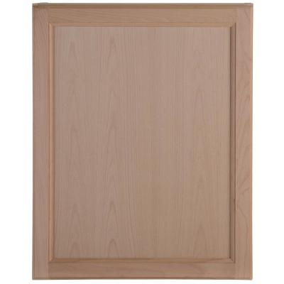 Easthaven Shaker Assembled 24x30x12 in. Frameless Wall Cabinet in Unfinished Beech