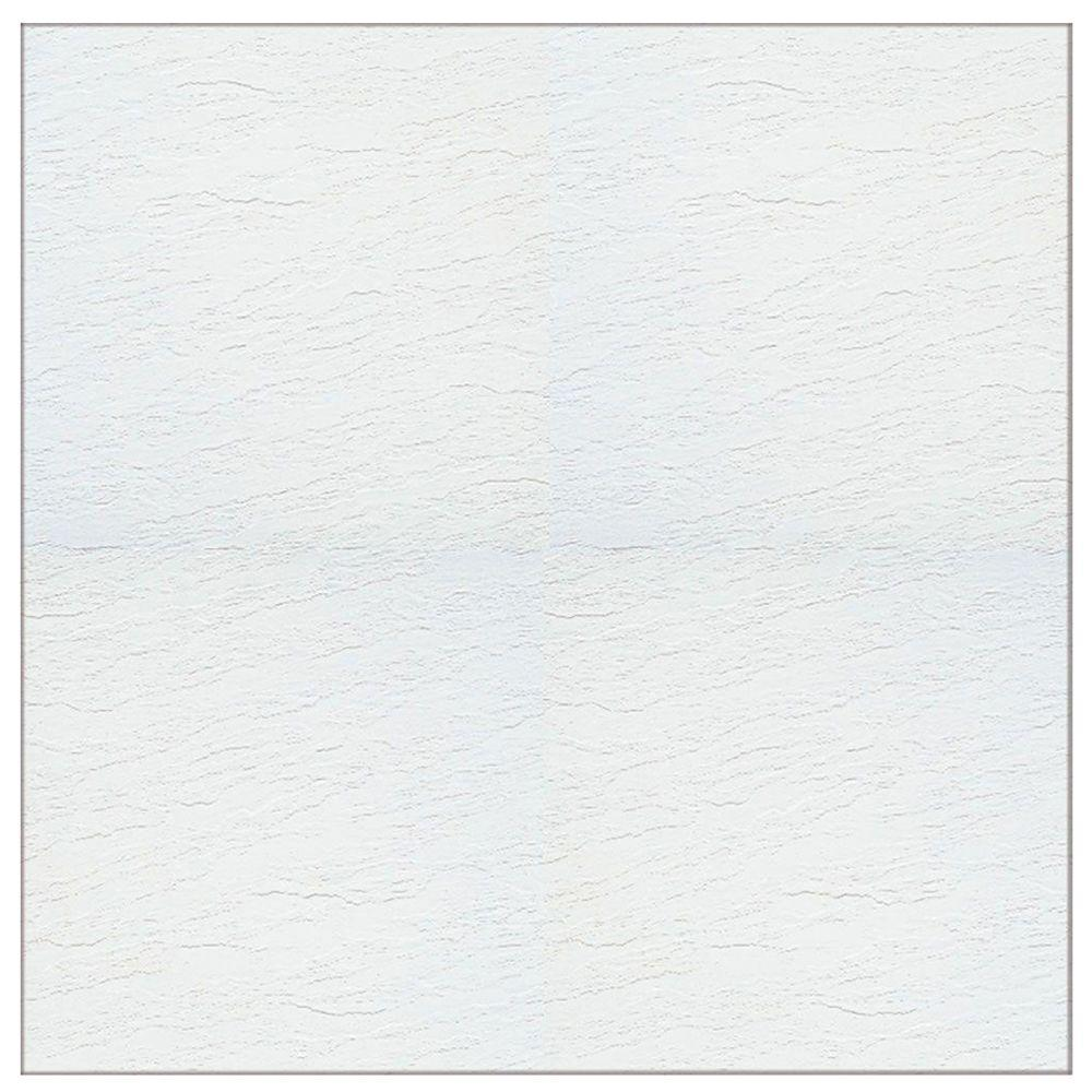 Armstrong stylistik ii white gloss 12 in x 12 in for Stick on linoleum floor