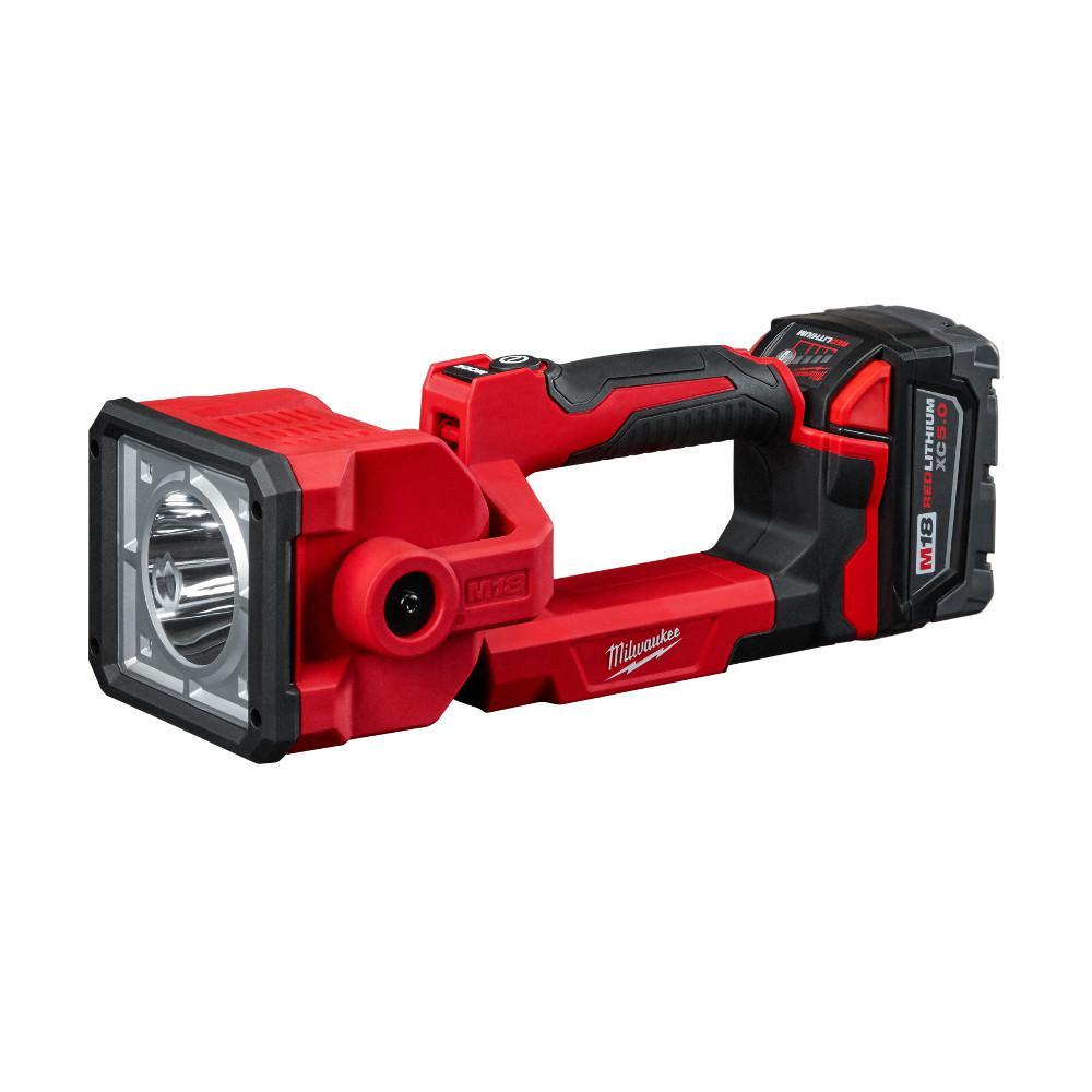 Tool-Only Milwaukee Search Light 1250-Lumen 18-Volt Lithium-Ion Cordless